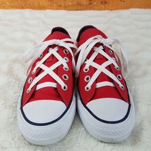 Converse All Star Red Sneakers Wom 7 Men 5 Unisex